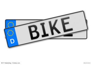 Motorradversicherung im Vergleich - Kennzeichen Bike